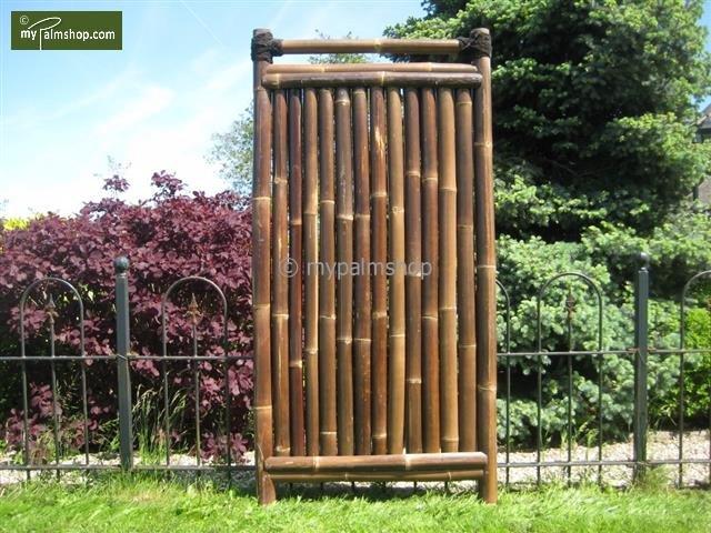 Brise-vue en bambou 90cm x 180cm BLACK [palette]