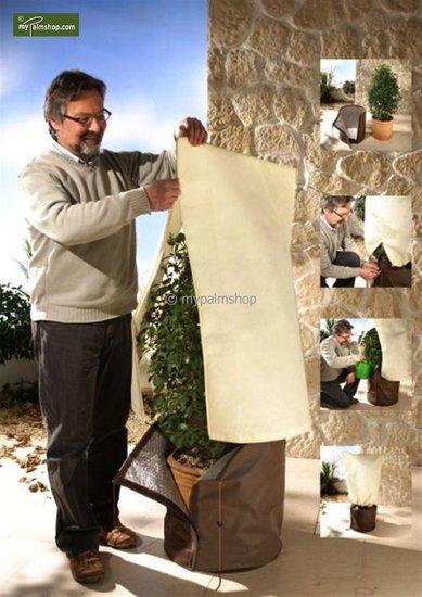 Protection hivernale pour plantes square 100 x 80 cm